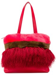 P.A.R.O.S.H. Panelled Tote Red