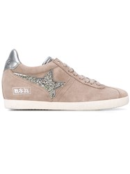 Ash Guepard Sneakers Women Cotton Leather Suede Rubber 38 Nude Neutrals