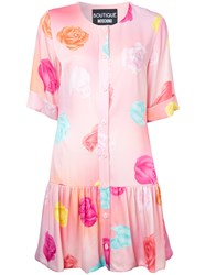 Boutique Moschino Floral Print Dress Pink Purple