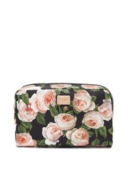 Dolce And Gabbana Roses Print Nylon Cosmetics Case Multi