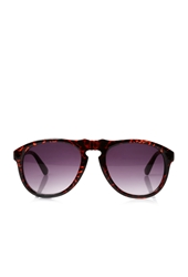 Forever 21 Animal Print D Frame Sunglasses