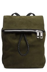 Rag And Bone Loner Leather Backpack Green Olive Night Suede