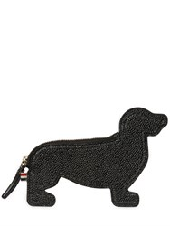 Thom Browne Dog Shaped Pebbled Leather Coin Purse