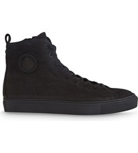 The Kooples High Top Washed Leather Trainers Bla01