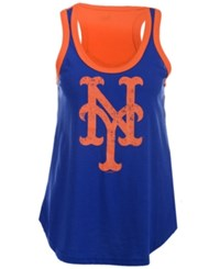G3 Sports Women's New York Mets Power Play Tank Royalblue Orange