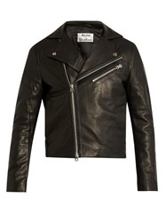 Acne Studios Gibson Leather Biker Jacket Black