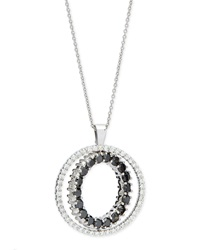 Double Sided White And Black Diamond Pendant Necklace Roberto Coin