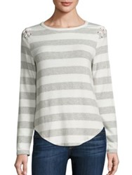 Generation Love Piper Striped Lace Up Sweater Stripes