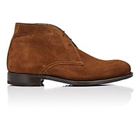 Isaia Men's Suede Chukka Boots Brown