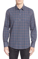Zachary Prell 'Weeks' Regular Fit Long Sleeve Check Sport Shirt Blue