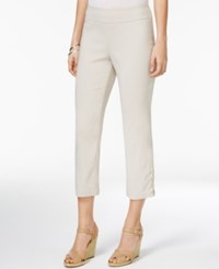 Jm Collection Lace Up Hem Capri Pants Only At Macy's Stonewall