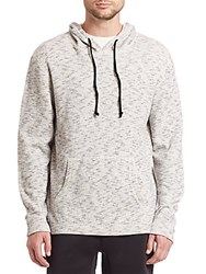 Madison Supply Marled Fleece Pullover Hoodie Heather Grey