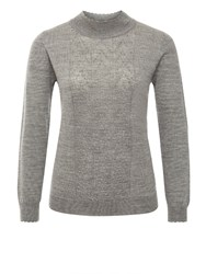 Eastex Cable Turtle Neck Sweater Grey