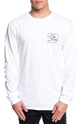 Quiksilver Distortion T Shirt White