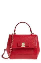 Salvatore Ferragamo Carrie Leather Satchel
