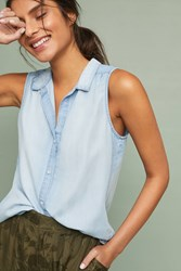 Cloth And Stone Sleeveless Chambray Buttondown Blue