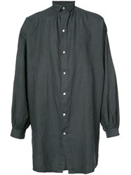 Horisaki Design And Handel Sheer Long Shirt Unisex Linen Flax 2 Black