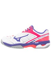 Mizuno Wave Exceed Claycourt Outdoor Tennis Shoes White Liberty Diva Pink