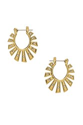 Luv Aj The Whimsy Flare Mini Hoops Metallic Gold