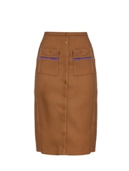 Marco De Vincenzo Buttoned High Rise Skirt