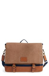 Men's Original Penguin Canvas And Leather Messenger Bag