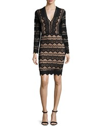 Nightcap Clothing Sierra Long Sleeve Lace Dress Black Nude