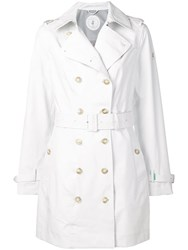 Save The Duck Classic Trench Coat White