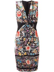 Roberto Cavalli Floral Print Fitted Dress Multicolour