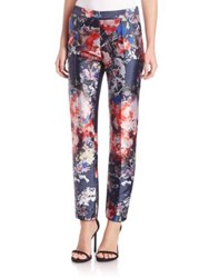 Sachin Babi Isabel Floral Printed Pants Midnight