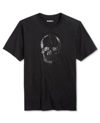 William Rast Men's Graphic Print T Shirt Skull Head