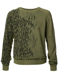 Haider Ackermann Animal Print Sweatshirt Green