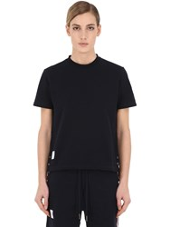 Thom Browne Cotton Jersey T Shirt Navy