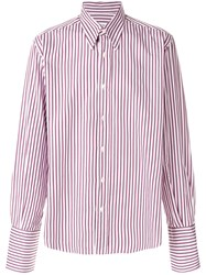 Yves Saint Laurent Vintage Striped Shirt Pink And Purple