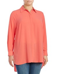 Vince Camuto Plus Crepe Button Front Tunic