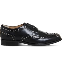 Office Billie Studded Leather Brogues Black Box Leather