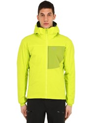 Arc'teryx Proton Lt Hooded Nylon Jacket Lime Green