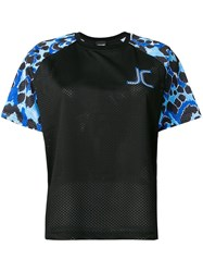 Just Cavalli Leopard Print Sport T Shirt Black
