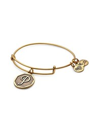Alex And Ani Initial P Charm Bangle Gold
