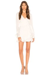 Donna Mizani Eliza Mini Wrap Dress Ivory