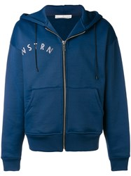 Golden Goose Deluxe Brand Gemstone Detailed Zipped Hoodie Blue
