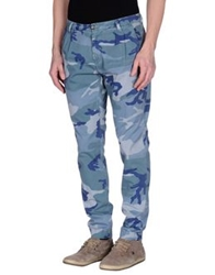 One Seven Two Casual Pants Slate Blue