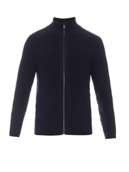 Dunhill Zip Up Wool Sweater