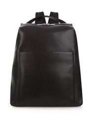 Valextra Leather Backpack Black