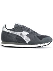 Diadora Trident Sneakers Cotton Leather Suede Rubber Grey