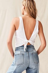 Urban Renewal Remade Oxford Tie Back Top White