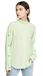 Cedric Charlier Button Down Shirt Green