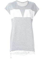 Moncler Short Sweater Dress Grey