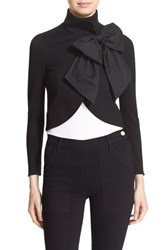 Alice Olivia Women's 'Addison' Bow Front Stand Collar Jacket