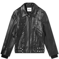 Ambush Leather Biker Jacket Black