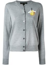 Marc Jacobs Buttoned Cardigan Women Wool M Grey